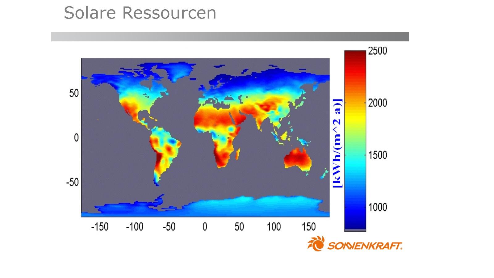 Solare Ressourcen Sonnenkraft