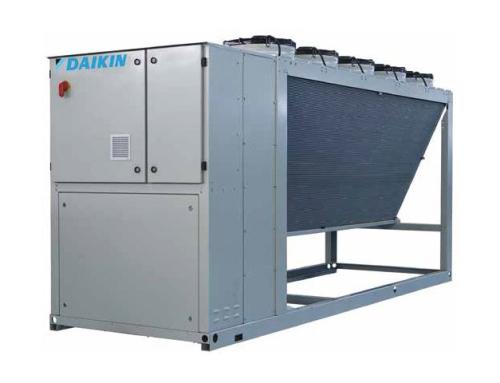 Нов компактен водоохлаждащ агрегат с няколко спирални компресора и въздушно охлаждане