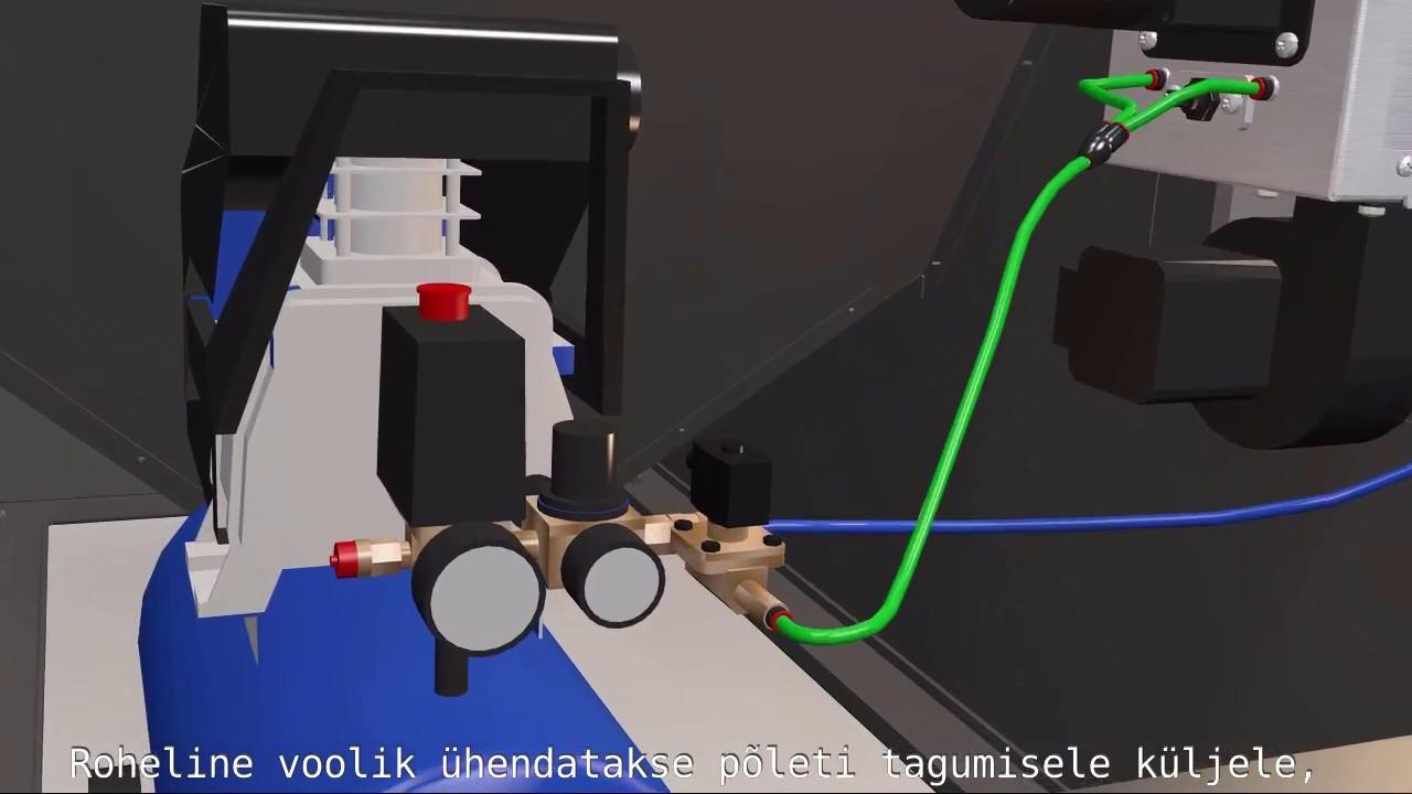 ОПОП пелетен котел на пелети компресор